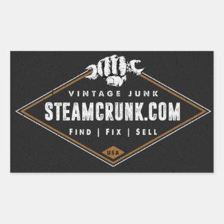 Steamcrunk Rectangle Gloss Sticker (4.5 x 2.7)