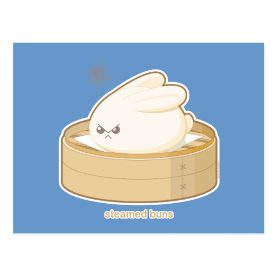 Steamed Buns Postcard