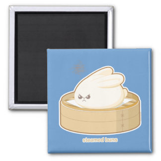 Steamed Buns Square Magnet