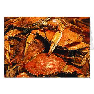 Steamed Maryland Hard Crabs Card