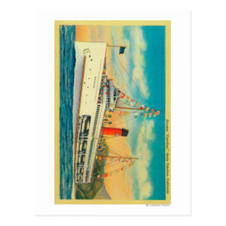 "Steamer ""Catalina"" at Santa Catalina Island Postcard"