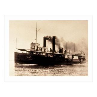 Steamer City of New York - Louis Pesha - D&C Line Postcard