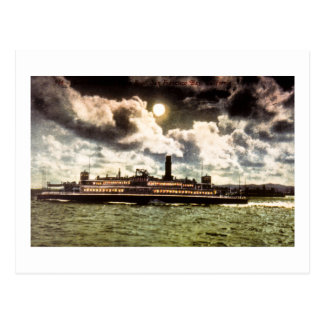 Steamer in San Francisco Bay Postcard