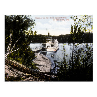 Steamer on River Saskatchewan, Edmonton, Alta. Postcard