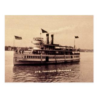 Steamer Thousand Islander Postcard