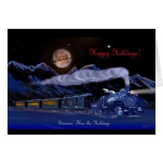 Steamin' Through the Holidays Christmas Card