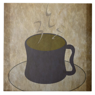 Steaming Cup of Coffee Tile