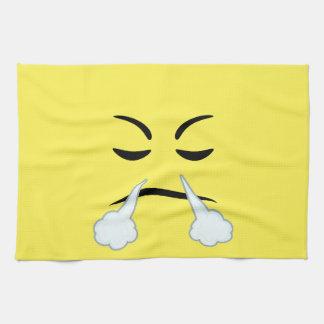 Steaming Emoji Hand Towel