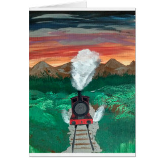 Steaming in the Sunset Card
