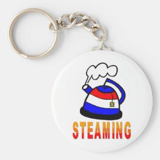 Steaming Teapot - Tea Party Keychain