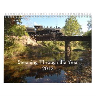 Steaming Through The Year Calendar