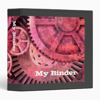 Steampink Pink Steampunk 3 Ring Binders