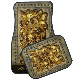 Steampunk 10 Options Car Mat