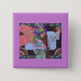 Steampunk #17 Square Button