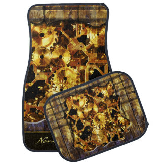 Steampunk 4 Options Car Mat