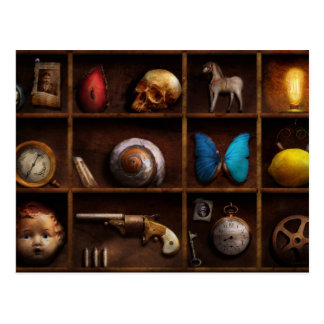 Steampunk - A box of curiosities Postcard