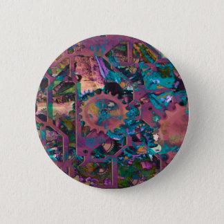 Steampunk, abstract 2 inch round button