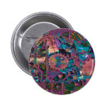 Steampunk, abstract 2 inch round button