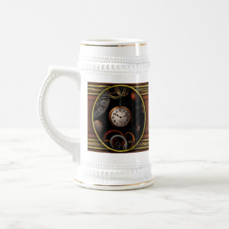 Steampunk - Abstract - The beginning and end 18 Oz Beer Stein
