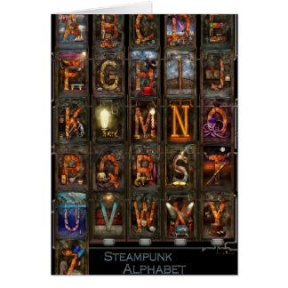 Steampunk - Alphabet - Complete Alphabet Card