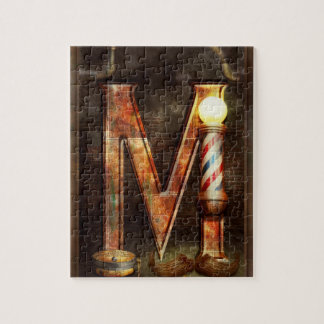 Steampunk - Alphabet - M is for Mustache Jigsaw Puzzle