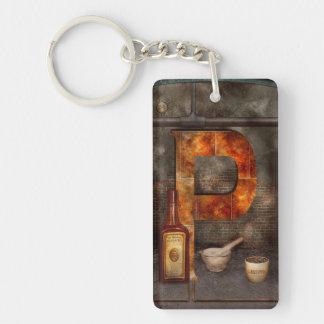 Steampunk - Alphabet - P is for Pharmacy Keychains