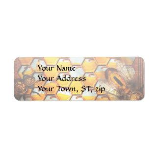Steampunk - Apiary - The hive Return Address Label