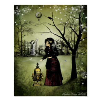 Steampunk Art Poster - At The End of the Day