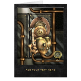 Steampunk At Heart Personalized Card