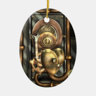 Steampunk At Heart Personalized Ceramic Ornament