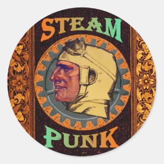 SteamPunk ~ Auto Pilot Classic Round Sticker