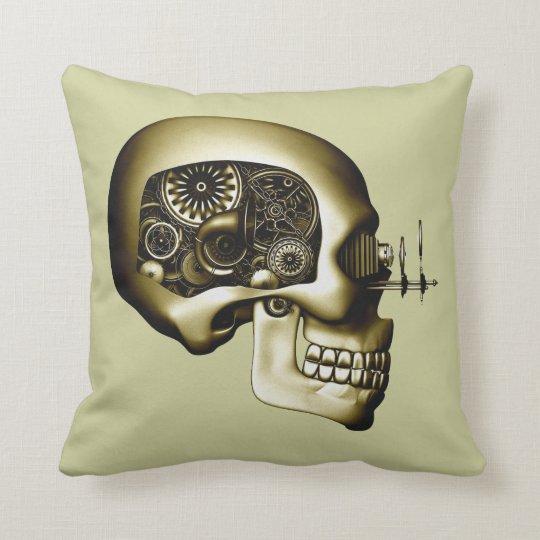 Steampunk Automaton #1D Throw Pillow