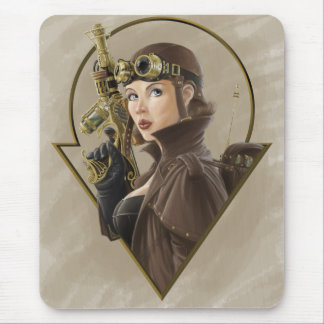 Steampunk Aviator Mouse Pad