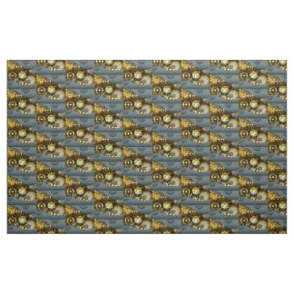 Steampunk, awesome   mechanical owl fabric