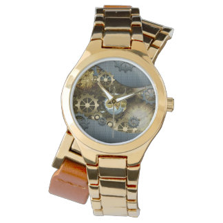 Steampunk, awesome   mechanical owl with gears watch
