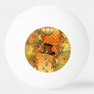 Steampunk, awesome steam hat ping pong ball