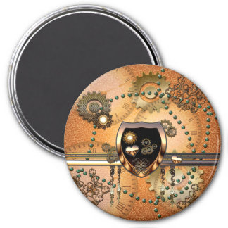 Steampunk, awsome shield with hearts magnet