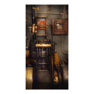 Steampunk - Back in the engine room Customized Photo Card
