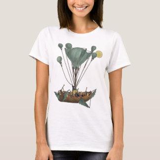 Steampunk Balloon Ship Flying Machine T-Shirt