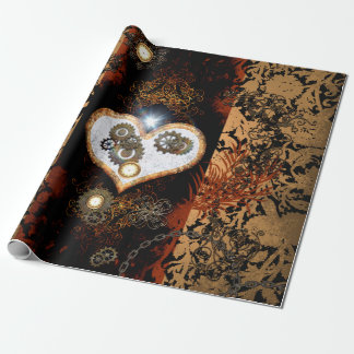 Steampunk, beautiful heart with gears and clocks