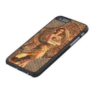 Steampunk, beautiful steam women carved maple iPhone 6 case