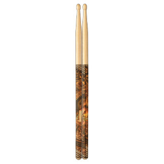 Steampunk, beautiful steam women drumsticks