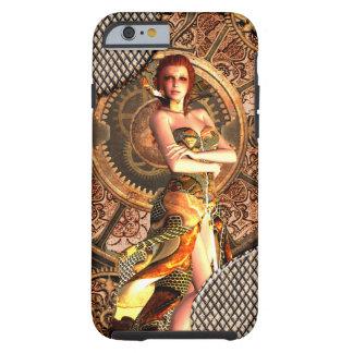 Steampunk, beautiful steam women tough iPhone 6 case