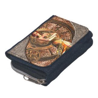 Steampunk, beautiful steam women wallet