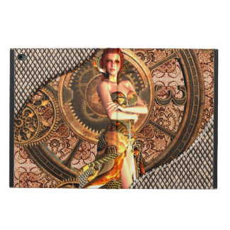 Steampunk, beautiful steam women with clocks powis iPad air 2 case