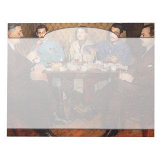 Steampunk - Bionic three having tea 1917 Notepads