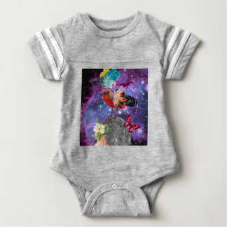 Steampunk Bird Baby Bodysuit