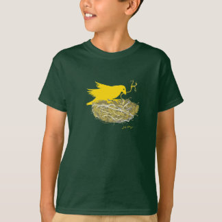 Steampunk bird nest t-shirt