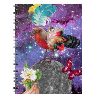 Steampunk Bird Notebook