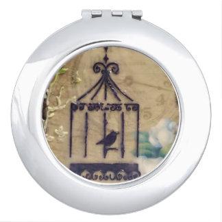 Steampunk Birdcage Travel Mirrors